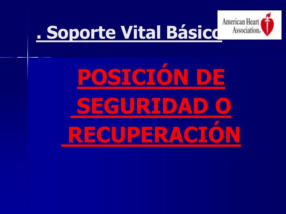 . Soporte Vital Básico POSICIÓN DE SEGURIDAD O RECUPERACIÓN