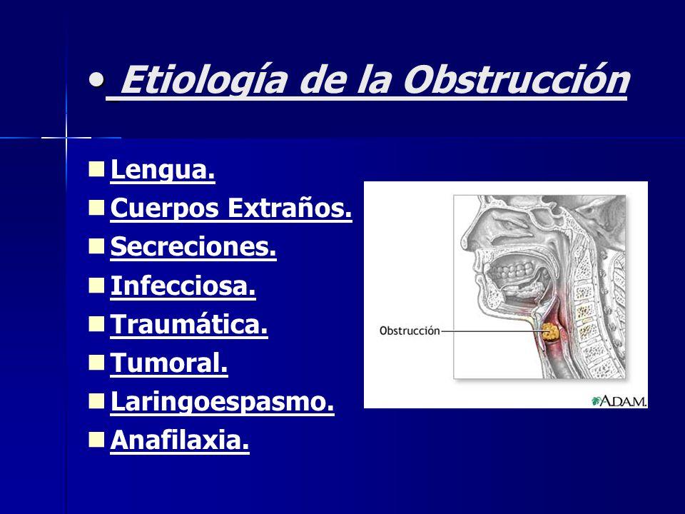 Etiología de la Obstrucción Lengua. Cuerpos Extraños.