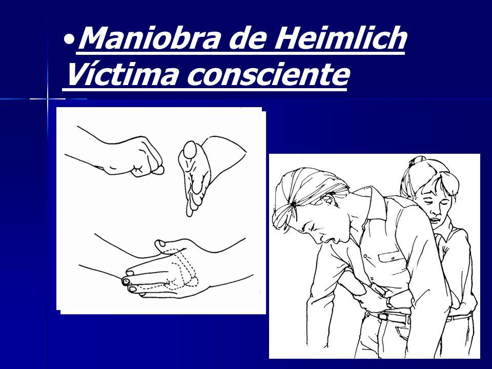 Maniobra de Heimlich Víctima consciente