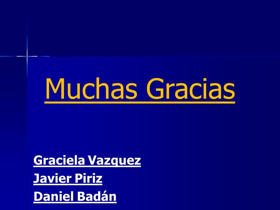 Muchas Gracias Graciela Vazquez Javier Piriz Daniel Badán