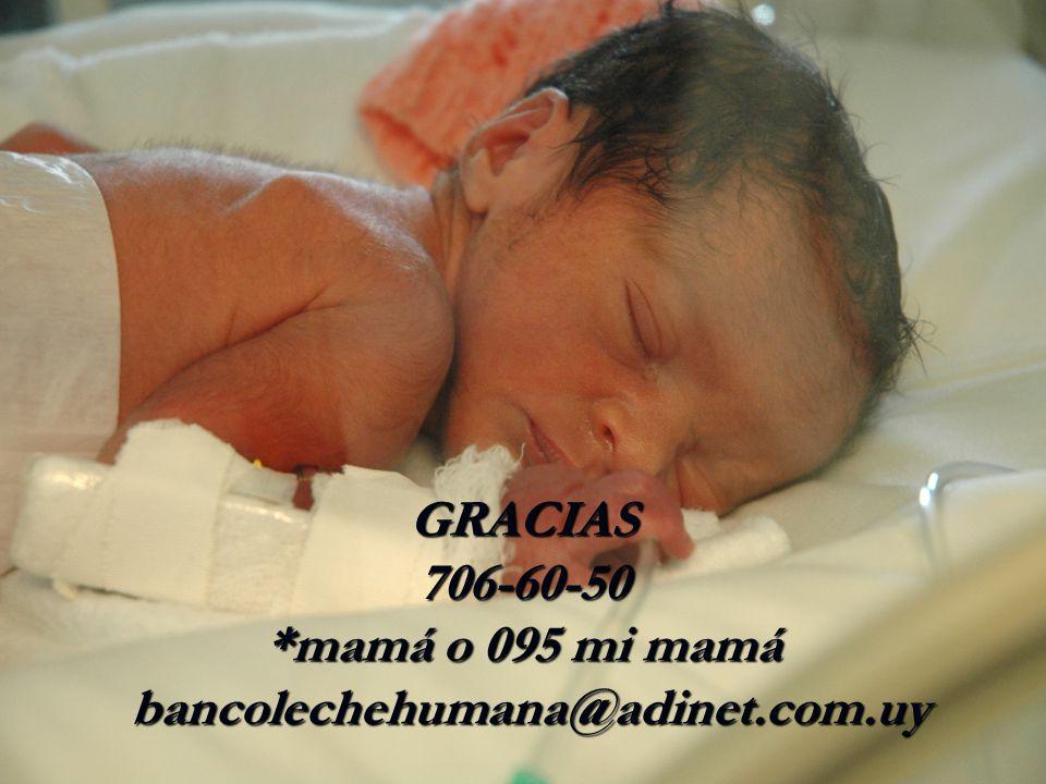 GRACIAS 706-60-50 *mamá o 095 mi mamá bancolechehumana@adinet.com.uy