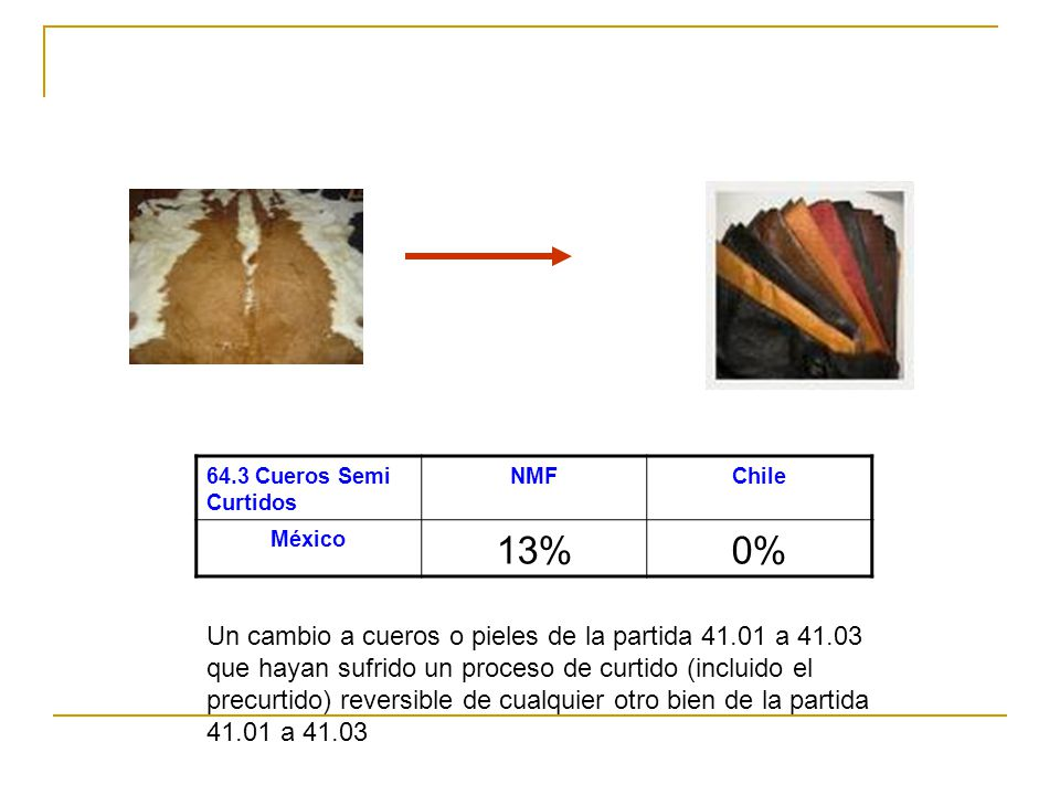 Manufacturas PlásticasNMFChile Corea8%0 % Cambio de Partida o Valor de Contenido Regional 45 %