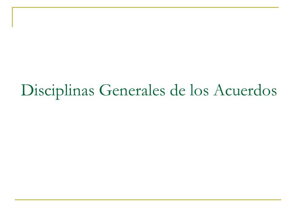 Comercio de Bienes: Las disciplinas se aplican al comercio de todos los bienes.
