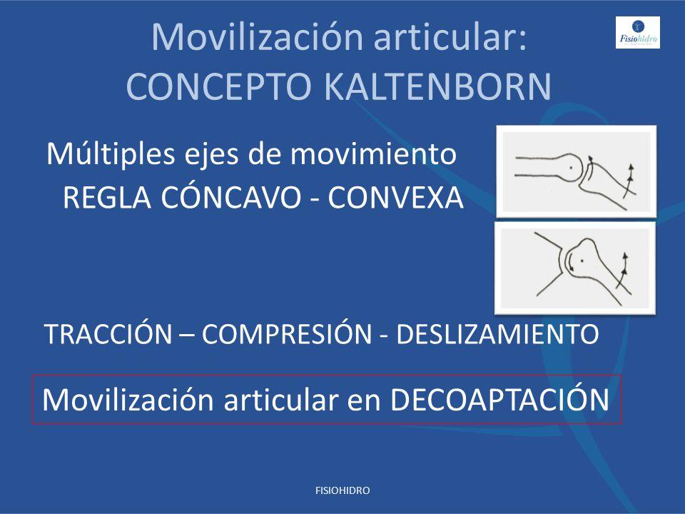 Movilización articular: CONCEPTO KALTENBORN REGLA CÓNCAVO - CONVEXA TRACCIÓN – COMPRESIÓN - DESLIZAMIENTO Movilización articular en DECOAPTACIÓN Múlti