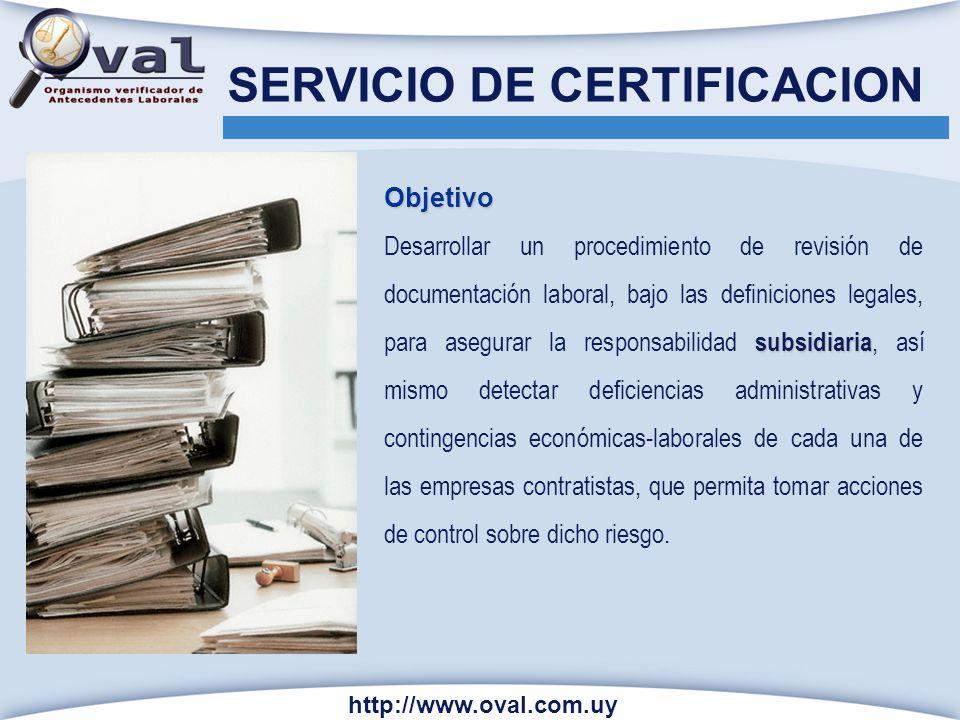 Objetivo subsidiaria Desarrollar un procedimiento de revisión de documentación laboral, bajo las definiciones legales, para asegurar la responsabilida