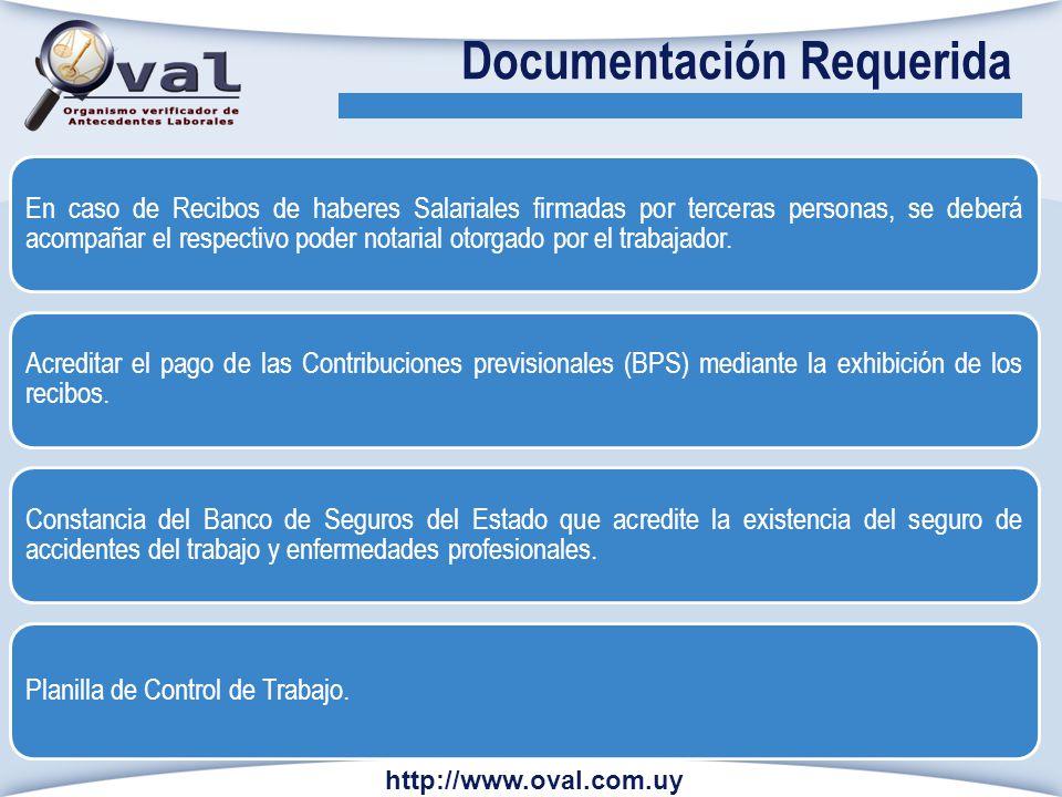 En caso de Recibos de haberes Salariales firmadas por terceras personas, se deberá acompañar el respectivo poder notarial otorgado por el trabajador.