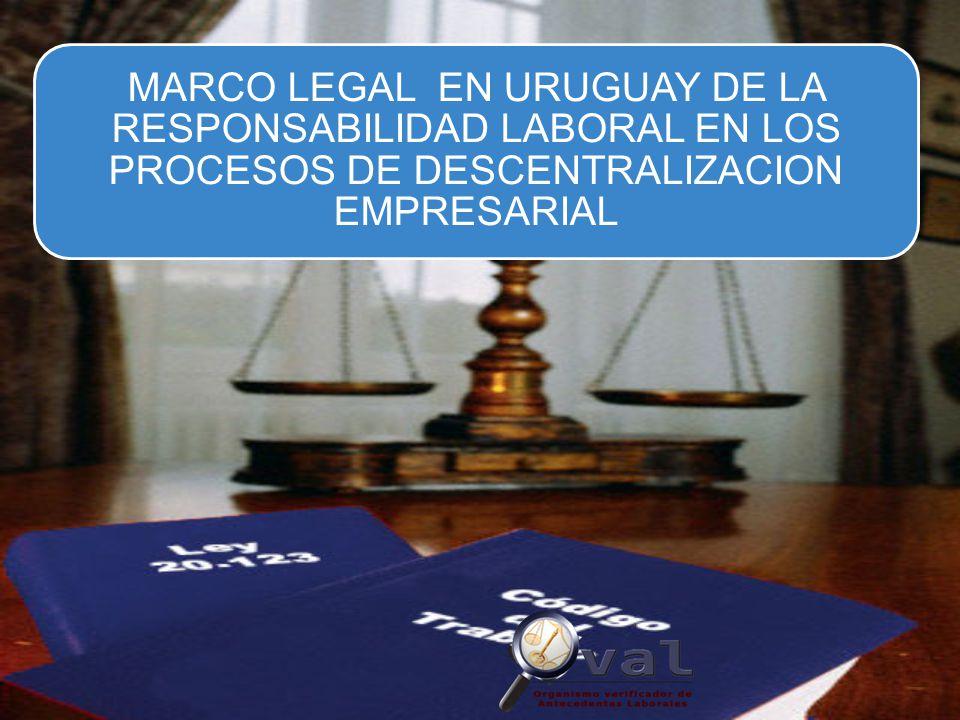 MARCO LEGAL Establece la responsabilidad SUBSIDIARIA de la empresa principal en las siguientes materias: (art.
