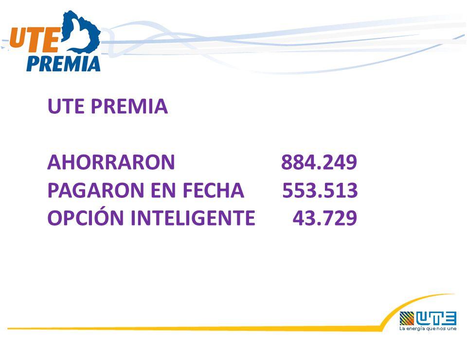 UTE PREMIA AHORRARON 884.249 PAGARON EN FECHA 553.513 OPCIÓN INTELIGENTE 43.729