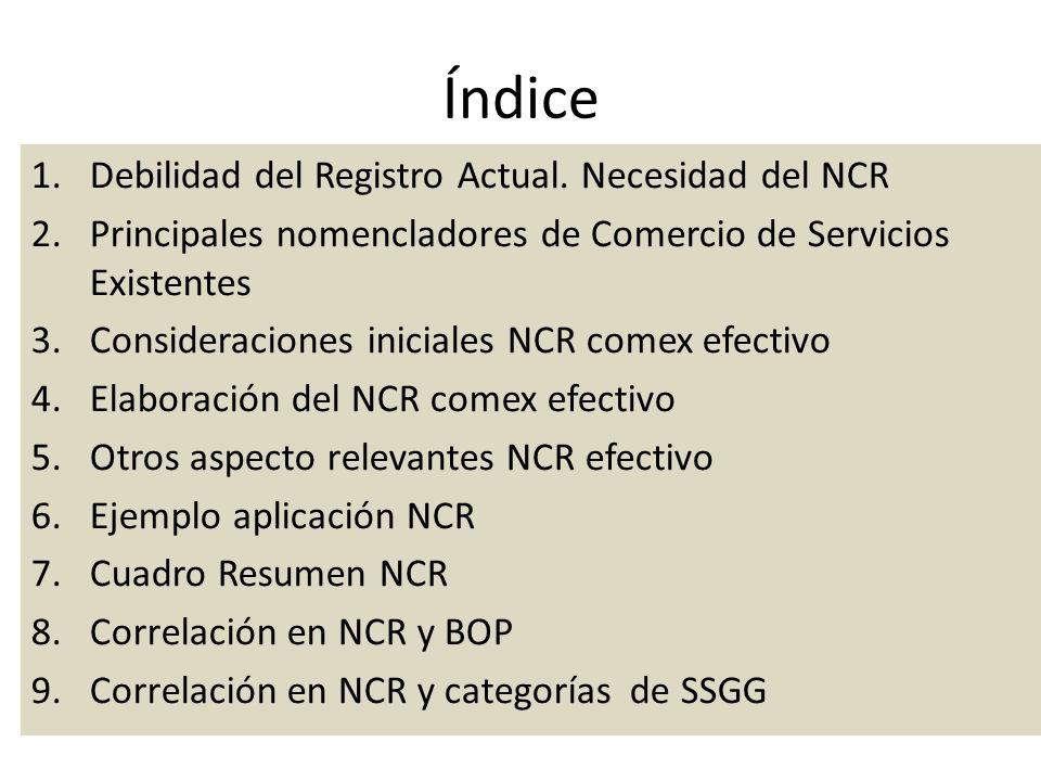 Índice 1.Debilidad del Registro Actual.