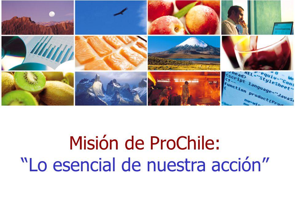 Misión de ProChile: Lo esencial de nuestra acción
