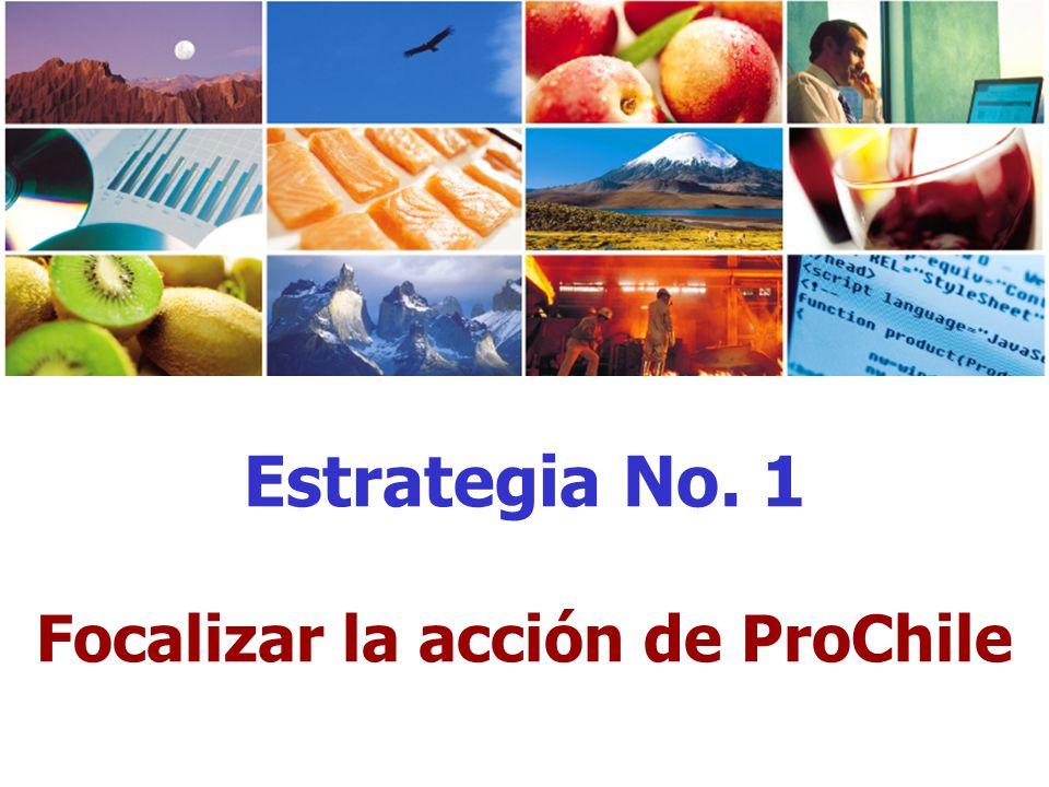 Estrategia No. 1 Focalizar la acción de ProChile