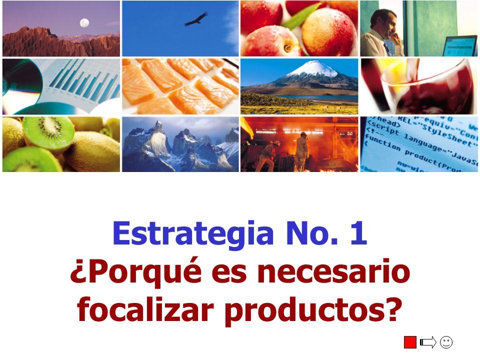 Estrategia No. 1 ¿Porqué es necesario focalizar productos?