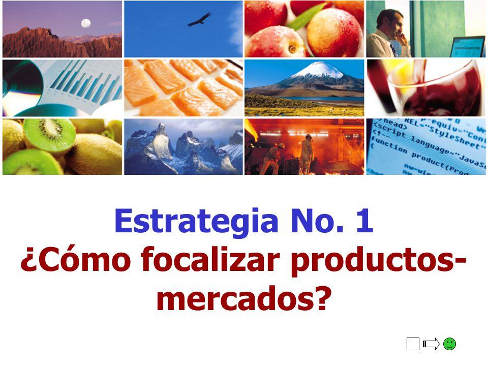 Estrategia No. 1 ¿Cómo focalizar productos- mercados?