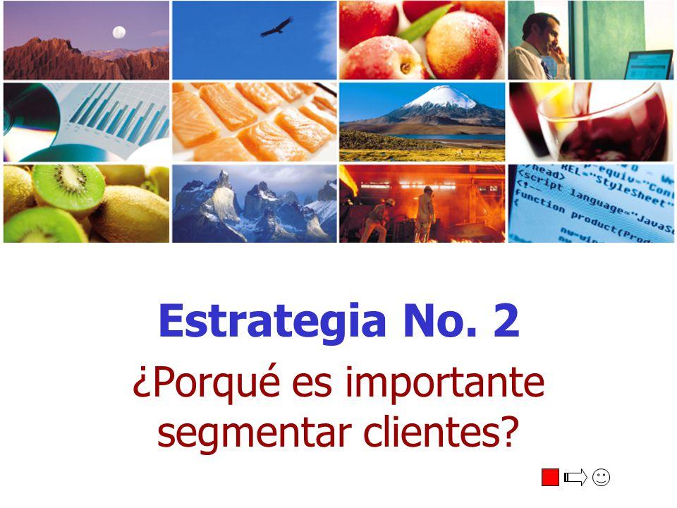 Estrategia No. 2 ¿Porqué es importante segmentar clientes?