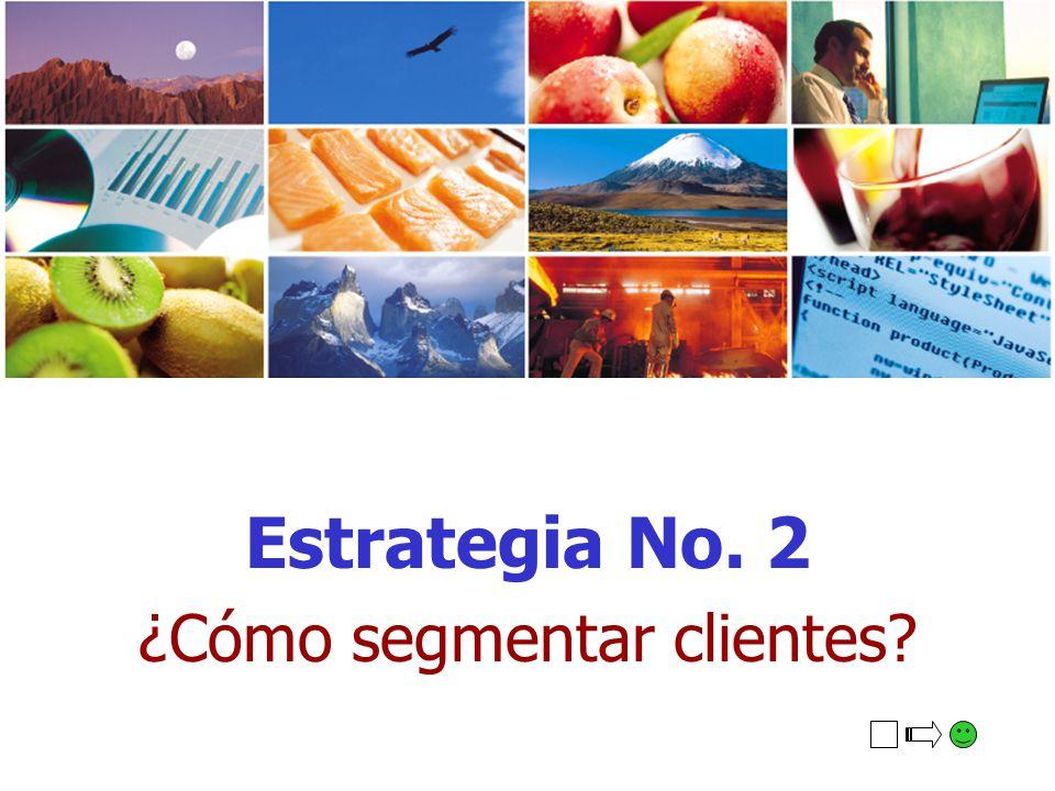 Estrategia No. 2 ¿Cómo segmentar clientes?