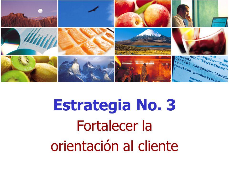 Estrategia No. 3 Fortalecer la orientación al cliente