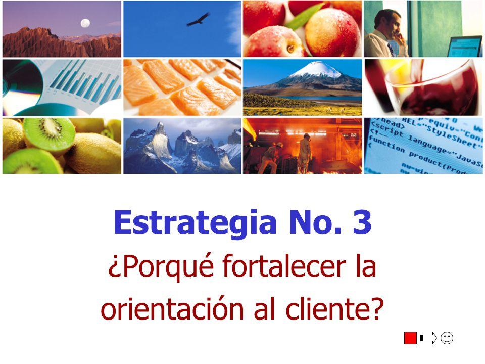 Estrategia No. 3 ¿Porqué fortalecer la orientación al cliente?