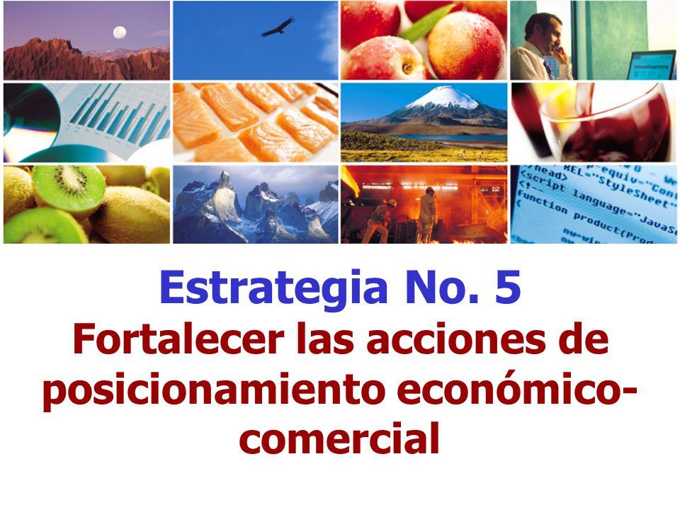 Estrategia No. 5 Fortalecer las acciones de posicionamiento económico- comercial