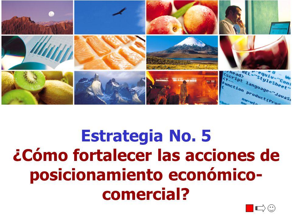 Estrategia No. 5 ¿Cómo fortalecer las acciones de posicionamiento económico- comercial?