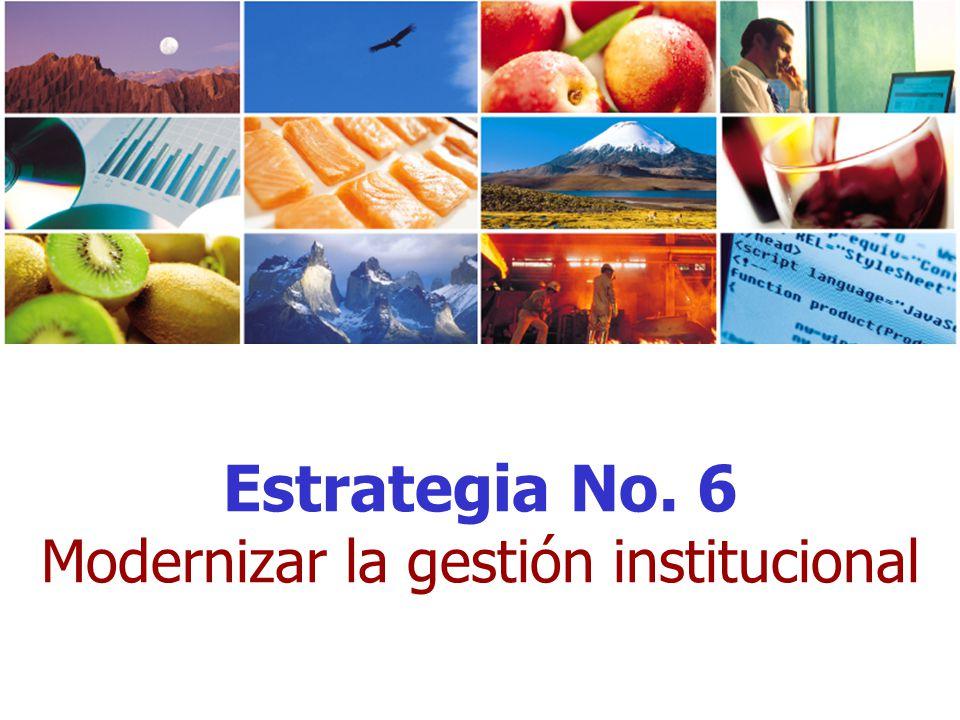 Estrategia No. 6 Modernizar la gestión institucional