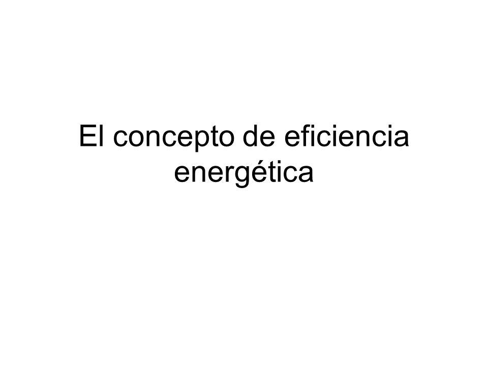 El concepto de eficiencia energética