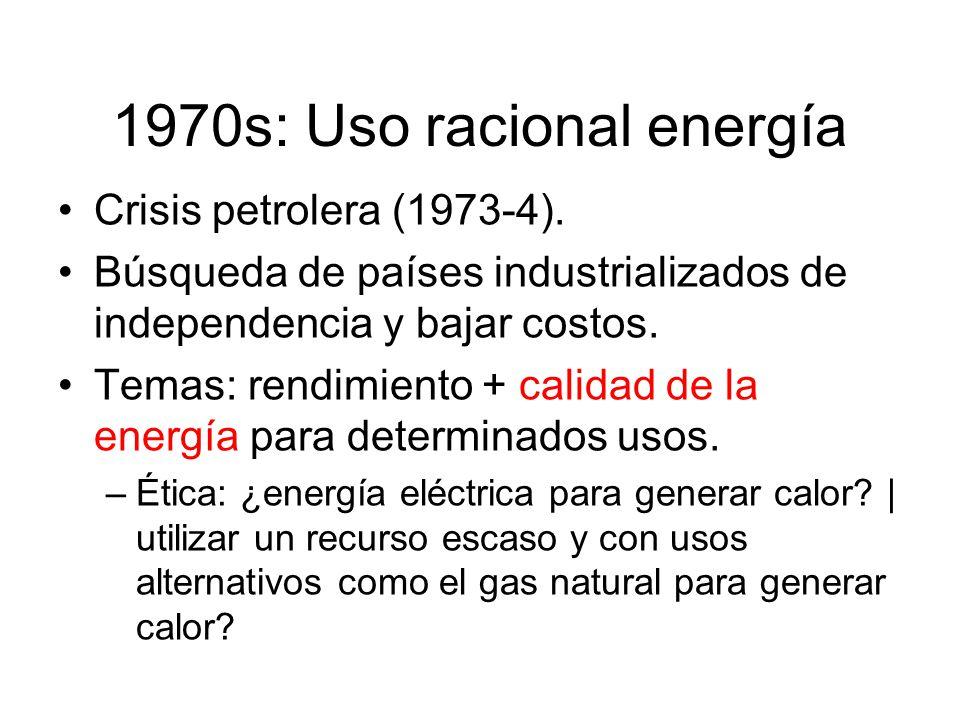Crisis petrolera (1973-4).Búsqueda de países industrializados de independencia y bajar costos.