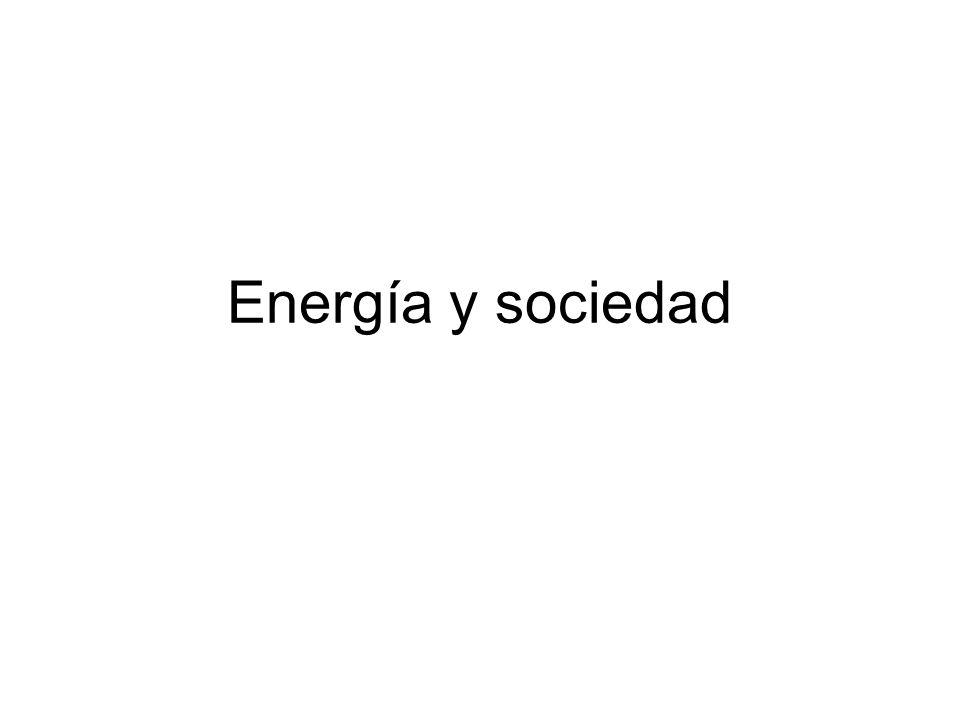 Energía y sociedad