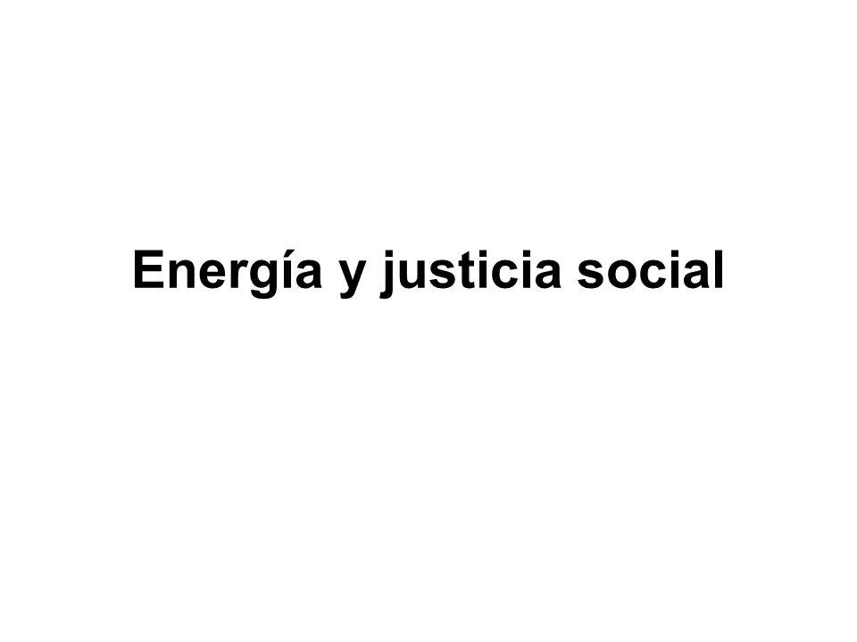 Energía y justicia social