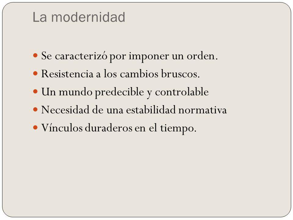 La Modernidad La sociedad industrial y urbana moderna se produce con la Revolución Industrial y el triunfo del capitalismo.sociedad industrialRevolución Industrialcapitalismo Propone un mundo de metas.