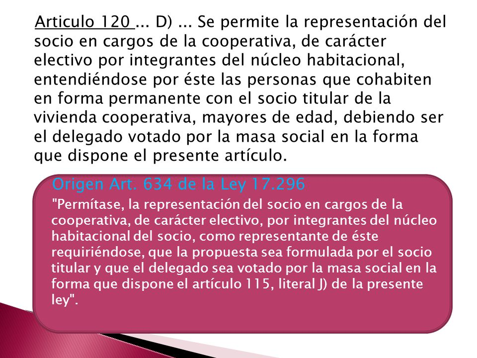 Articulo 120...D)...