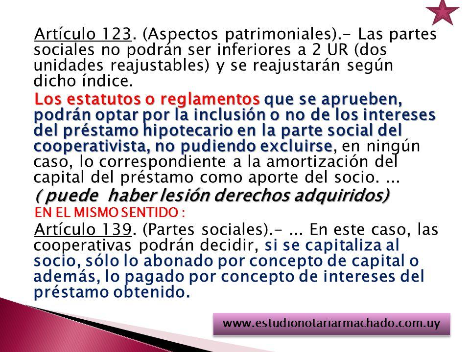Artículo 123.