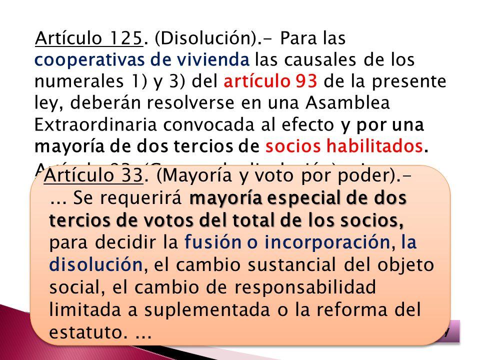 Artículo 125.