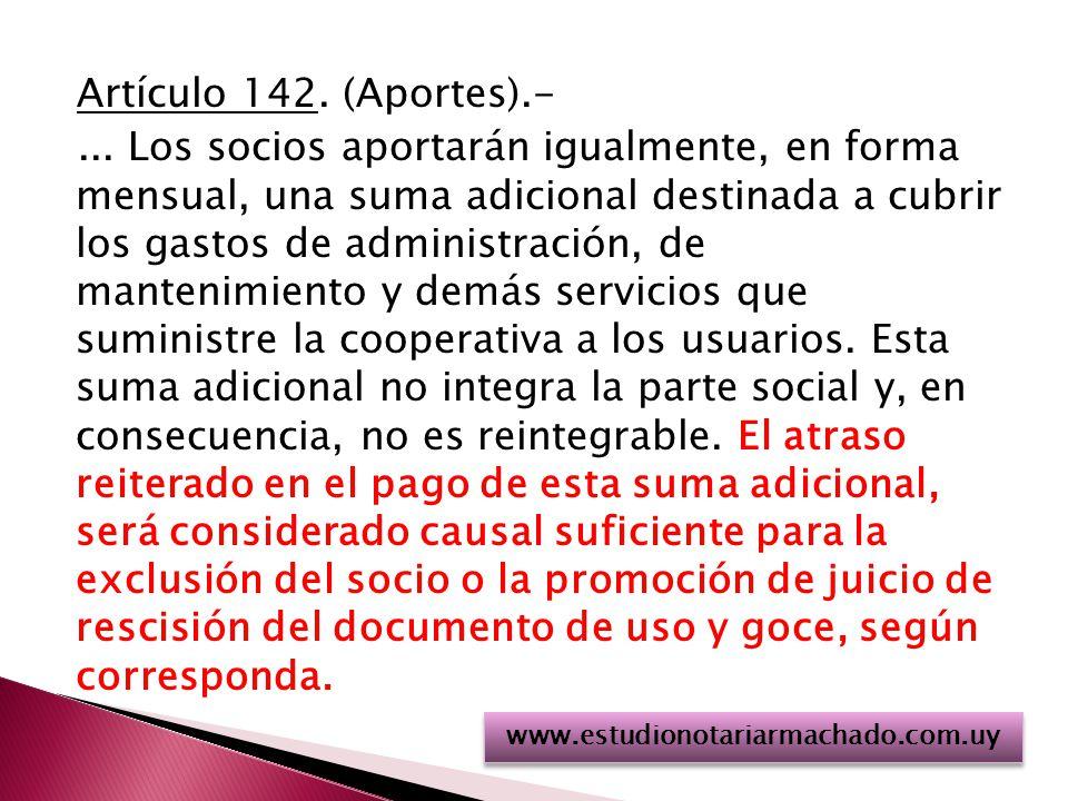 Artículo 142.(Aportes).-...