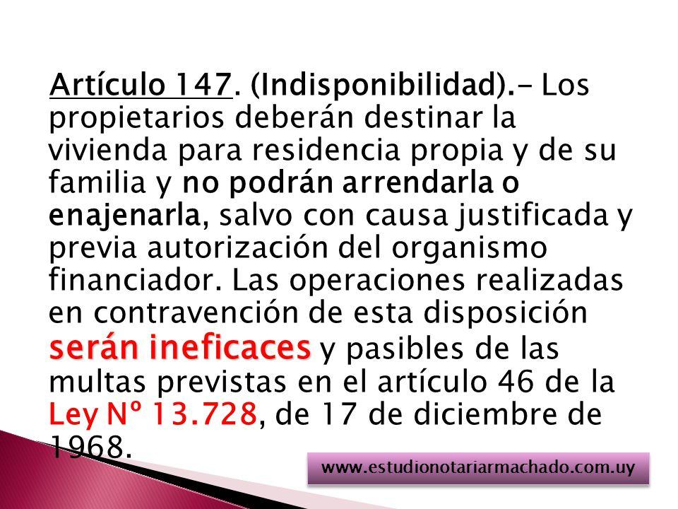 serán ineficaces Artículo 147.