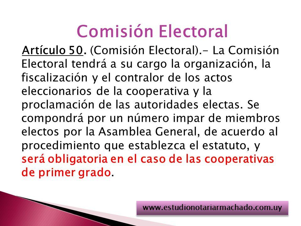 Comisión Electoral Artículo 50.
