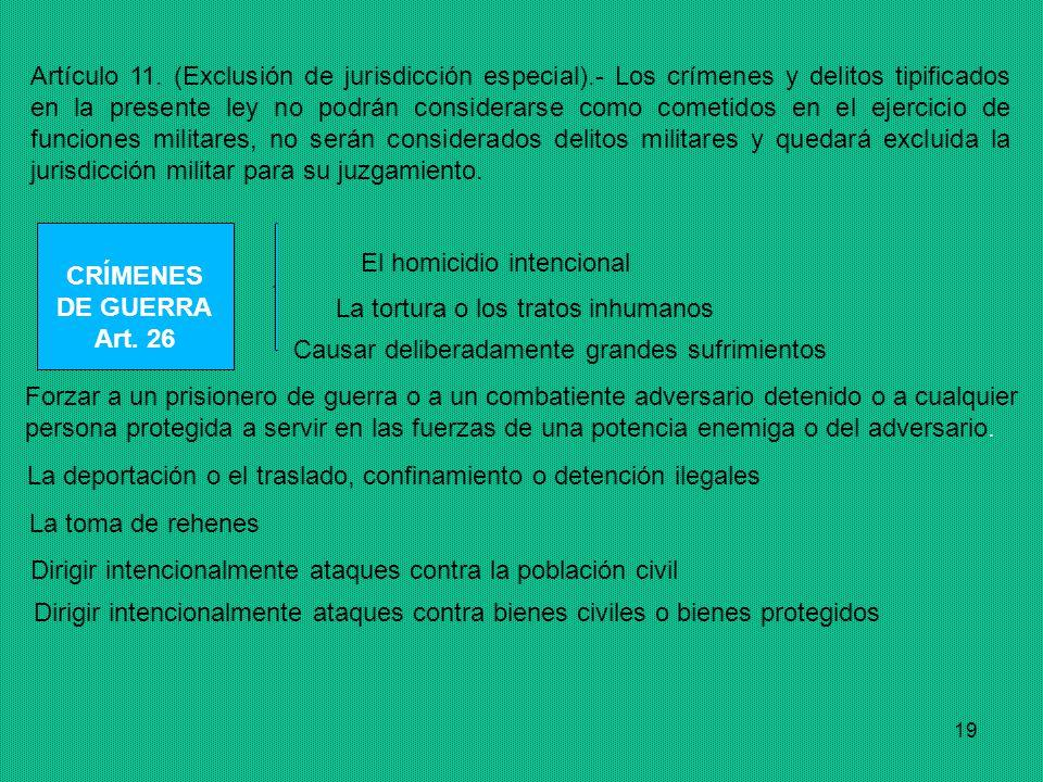 19 Artículo 11.