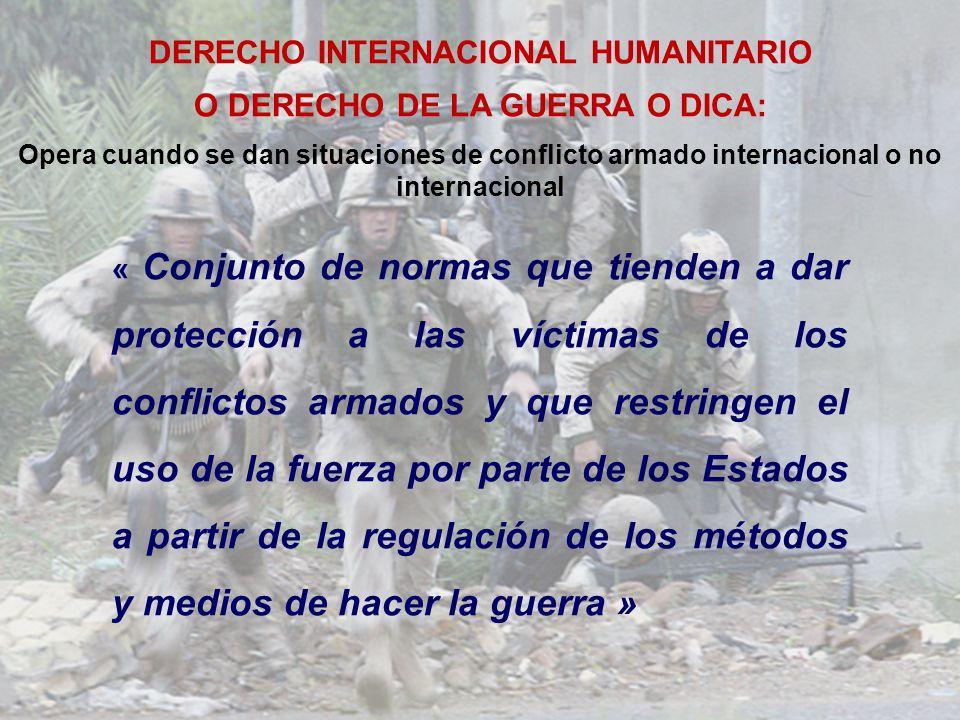 5 DIH Convenios de Ginebra de 1949 Protocolos adicionales de 1977 Protección a las victimas de la guerra CG I: heridos y enfermos de las FF.AA.
