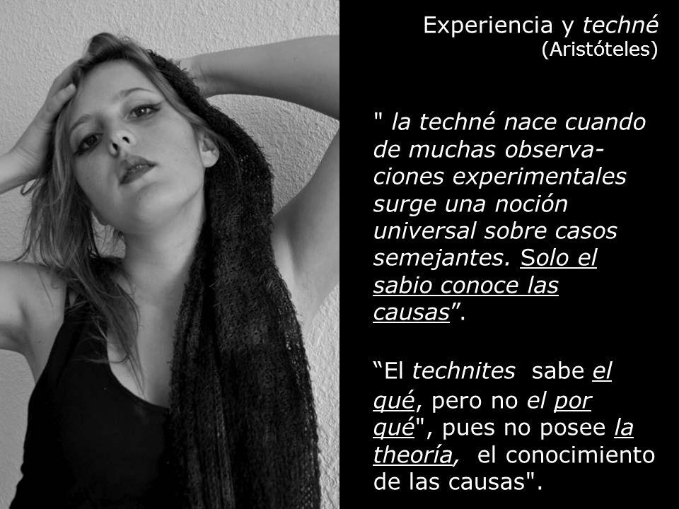 Experiencia y techné (Aristóteles)