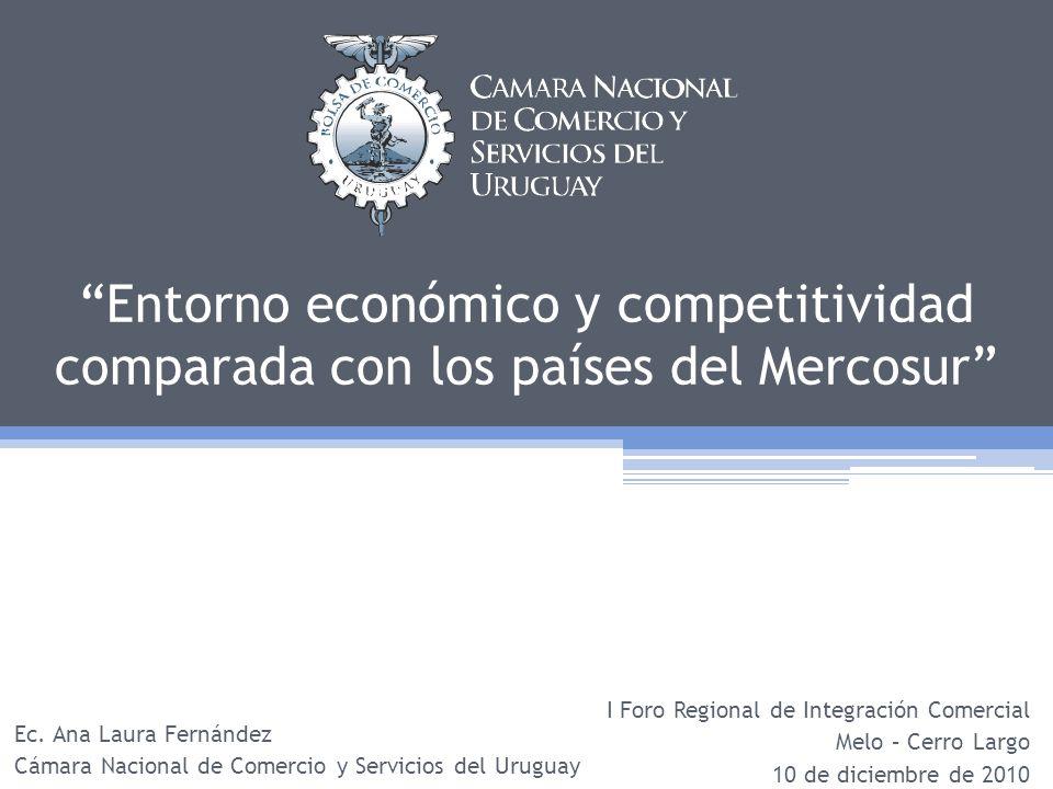 Contenido Cámara Nacional de Comercio y Servicios del Uruguay Aspectos macro y microeconómicos Evaluación de indicadores de competitividad Reflexiones finales Reflexiones finales