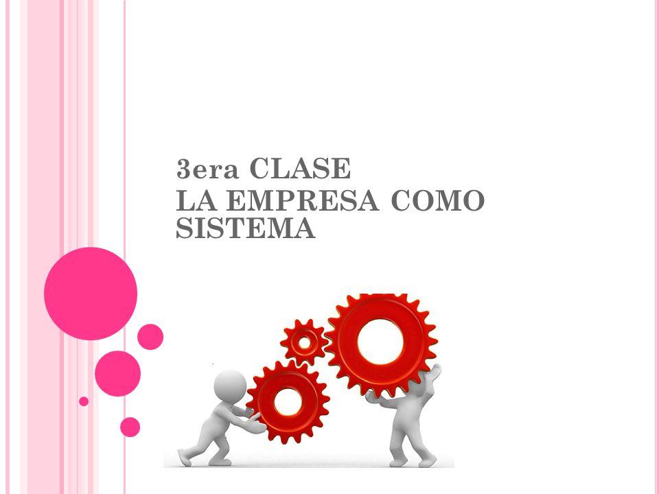 3 RA. CLASE 3era CLASE LA EMPRESA COMO SISTEMA