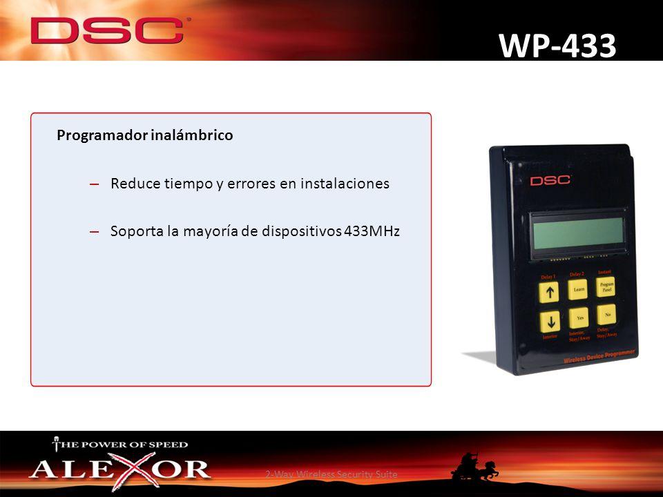 2-Way Wireless Security Suite WP-433 Programador inalámbrico – Reduce tiempo y errores en instalaciones – Soporta la mayoría de dispositivos 433MHz