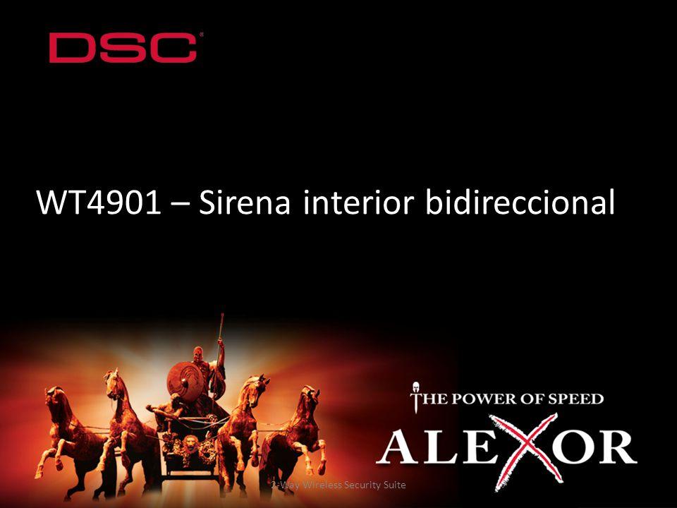 2-Way Wireless Security Suite WT4901 – Sirena interior bidireccional