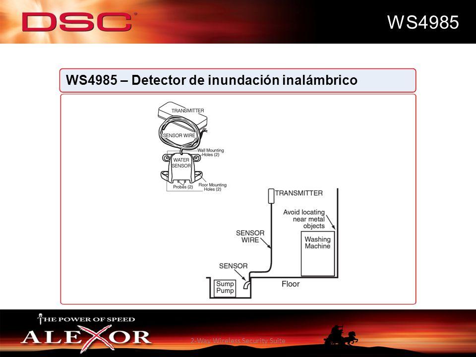 2-Way Wireless Security Suite WS4985 WS4985 – Detector de inundación inalámbrico
