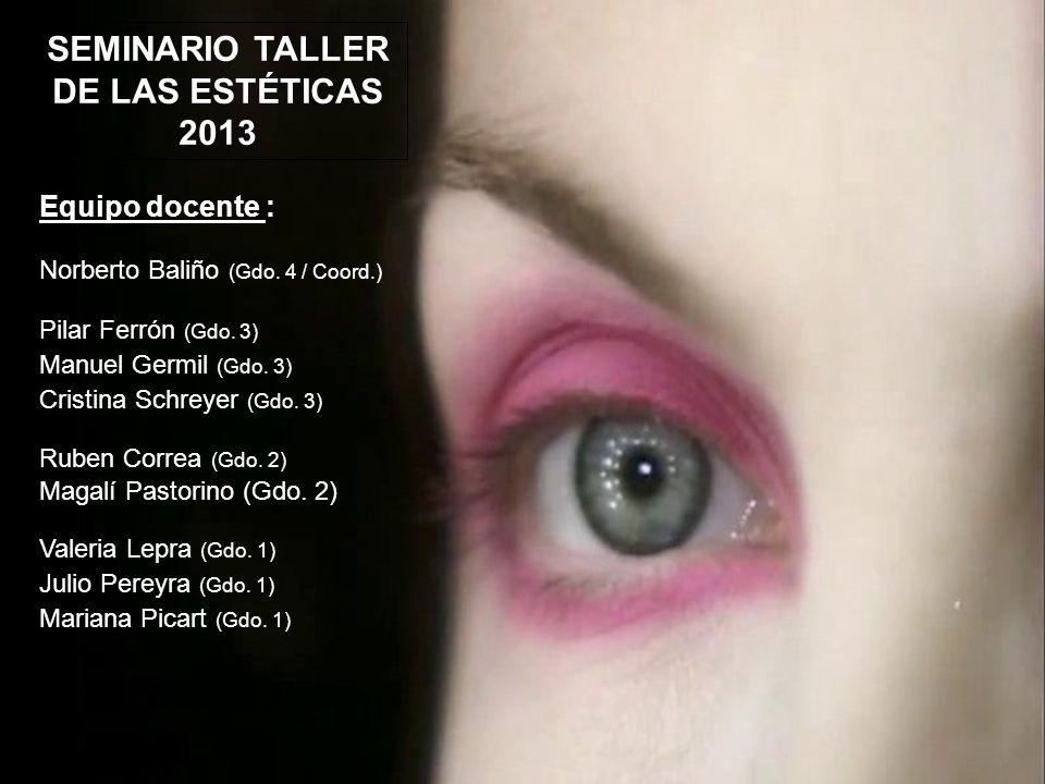Equipo docente : Norberto Baliño (Gdo. 4 / Coord.) Pilar Ferrón (Gdo.