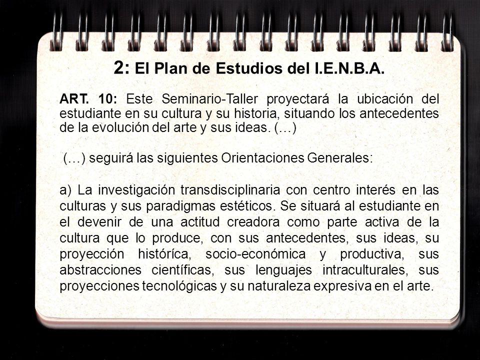 2: El Plan de Estudios del I.E.N.B.A. ART.