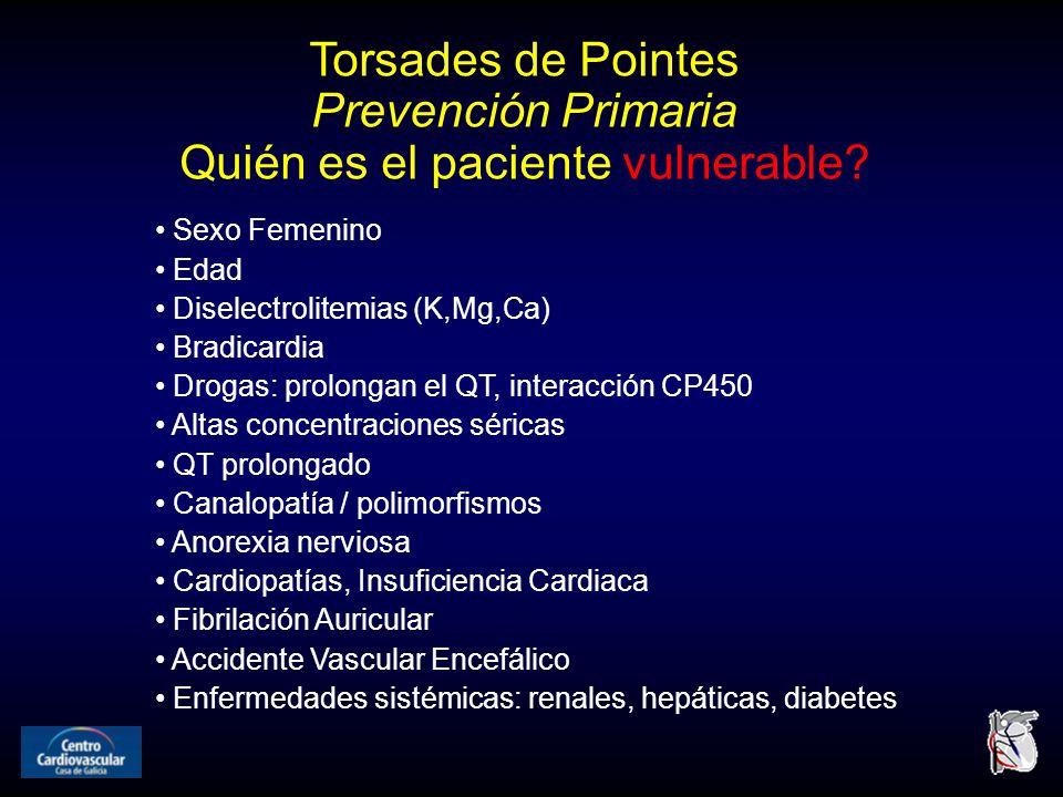 Torsades de Pointes Prevención Primaria Quién es el paciente vulnerable.