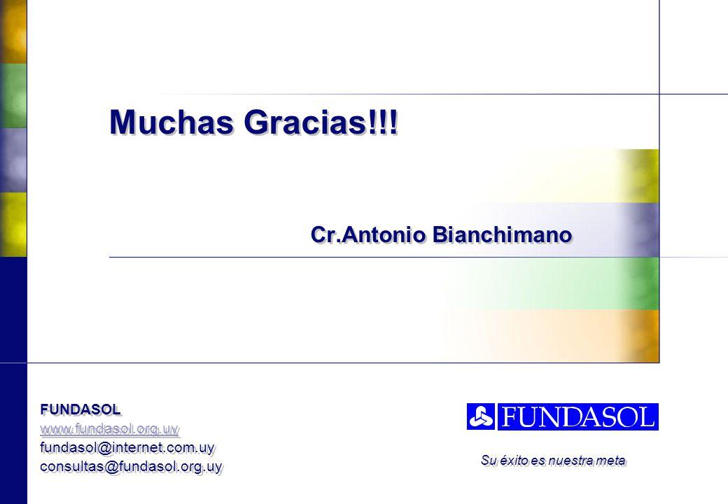 FUNDASOL www.fundasol.org.uy fundasol@internet.com.uy consultas@fundasol.org.uy FUNDASOL www.fundasol.org.uy fundasol@internet.com.uy consultas@fundasol.org.uy Su éxito es nuestra meta Muchas Gracias!!.