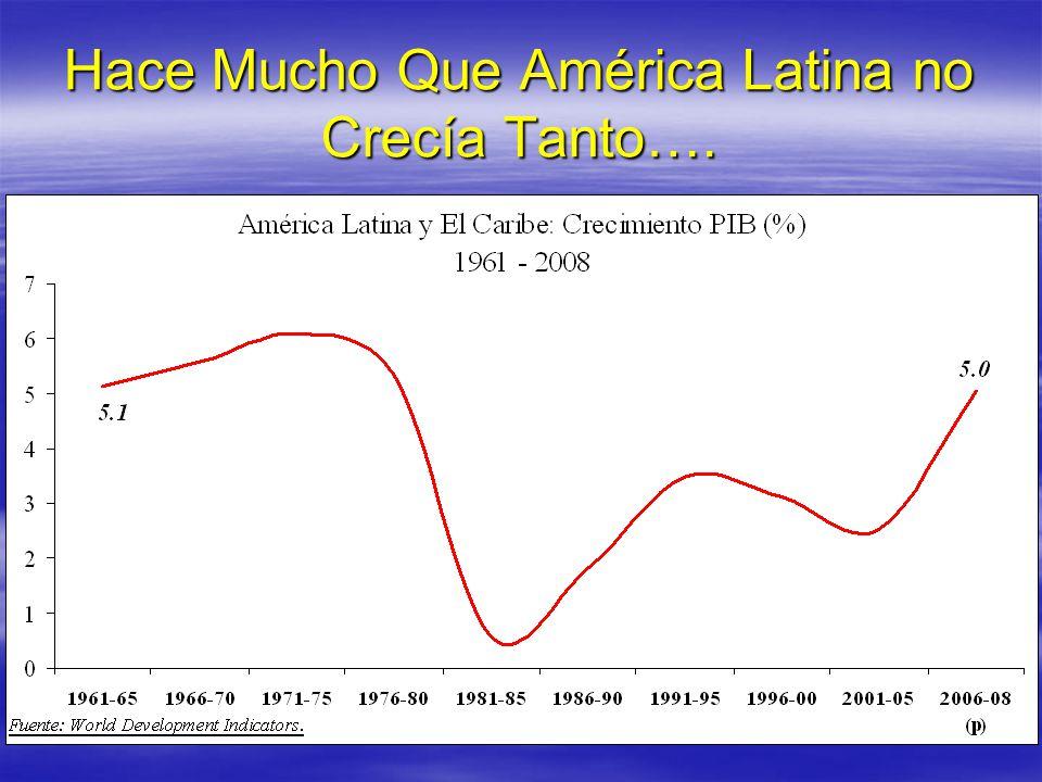 Hace Mucho Que América Latina no Crecía Tanto….