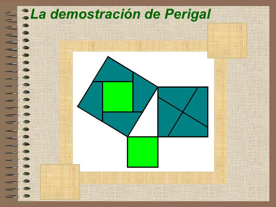 área trapecio = a su vez se puede calcular mediante la suma del área de los tres triángulos de donde obtenemos: Igualando las áreas se obtiene: La demostración de Garfield