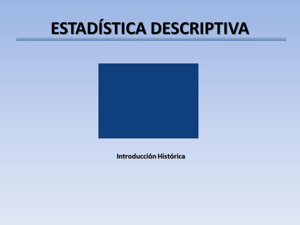 ESTADÍSTICA DESCRIPTIVA Introducción Histórica
